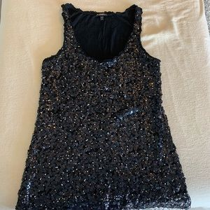 Express sequin tank and sweater set